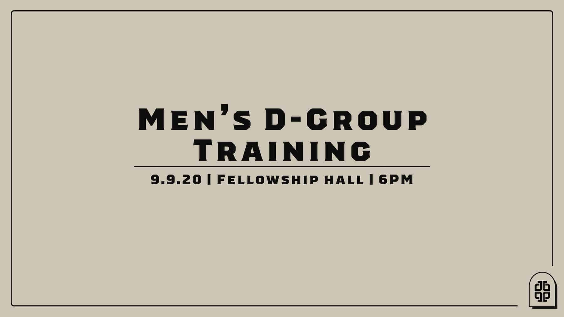 Men's D-Group Training